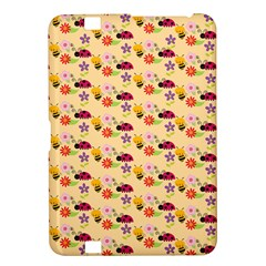 Colorful Ladybug Bess And Flowers Pattern Kindle Fire Hd 8 9