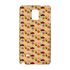 Colorful Ladybug Bess And Flowers Pattern Samsung Galaxy Note 4 Hardshell Case