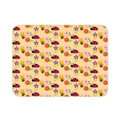Colorful Ladybug Bess And Flowers Pattern Double Sided Flano Blanket (mini)