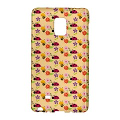 Colorful Ladybug Bess And Flowers Pattern Galaxy Note Edge