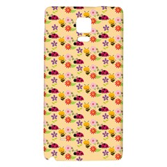 Colorful Ladybug Bess And Flowers Pattern Galaxy Note 4 Back Case
