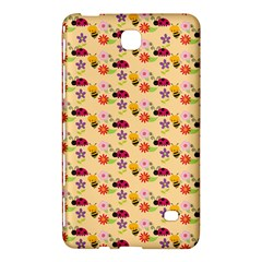 Colorful Ladybug Bess And Flowers Pattern Samsung Galaxy Tab 4 (8 ) Hardshell Case