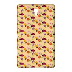 Colorful Ladybug Bess And Flowers Pattern Samsung Galaxy Tab S (8.4 ) Hardshell Case