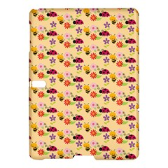 Colorful Ladybug Bess And Flowers Pattern Samsung Galaxy Tab S (10.5 ) Hardshell Case