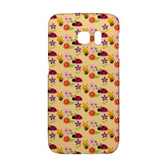Colorful Ladybug Bess And Flowers Pattern Galaxy S6 Edge