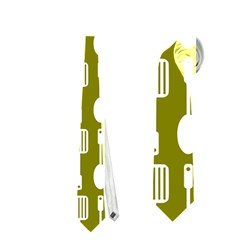 Olive Green Spatula Spoon Pattern Neckties (two Side)