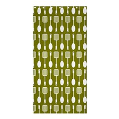 Olive Green Spatula Spoon Pattern Shower Curtain 36  x 72  (Stall)