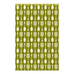 Olive Green Spatula Spoon Pattern Shower Curtain 48  x 72  (Small)