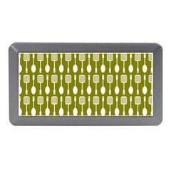 Olive Green Spatula Spoon Pattern Memory Card Reader (Mini)