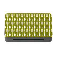Olive Green Spatula Spoon Pattern Memory Card Reader with CF