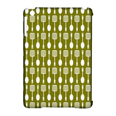 Olive Green Spatula Spoon Pattern Apple Ipad Mini Hardshell Case (compatible With Smart Cover)