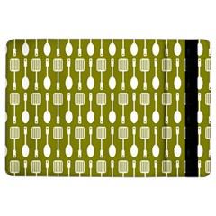 Olive Green Spatula Spoon Pattern iPad Air 2 Flip