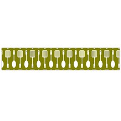 Olive Green Spatula Spoon Pattern Flano Scarf (Large)