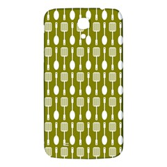 Olive Green Spatula Spoon Pattern Samsung Galaxy Mega I9200 Hardshell Back Case