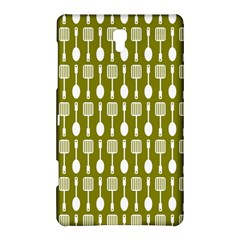 Olive Green Spatula Spoon Pattern Samsung Galaxy Tab S (8.4 ) Hardshell Case