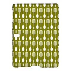 Olive Green Spatula Spoon Pattern Samsung Galaxy Tab S (10.5 ) Hardshell Case