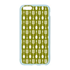 Olive Green Spatula Spoon Pattern Apple Seamless iPhone 6 Case (Color)