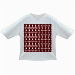 Red And White Kitchen Utensils Pattern Infant/Toddler T-Shirts