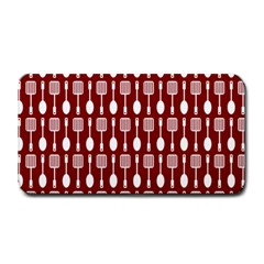 Red And White Kitchen Utensils Pattern Medium Bar Mats