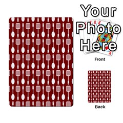 Red And White Kitchen Utensils Pattern Multi Purpose Cards (rectangle)