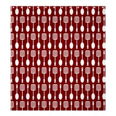 Red And White Kitchen Utensils Pattern Shower Curtain 66  x 72  (Large)