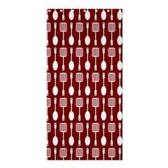 Red And White Kitchen Utensils Pattern Shower Curtain 36  x 72  (Stall)