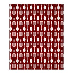 Red And White Kitchen Utensils Pattern Shower Curtain 60  X 72  (medium)
