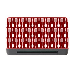 Red And White Kitchen Utensils Pattern Memory Card Reader with CF