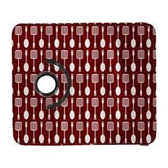 Red And White Kitchen Utensils Pattern Samsung Galaxy S  Iii Flip 360 Case