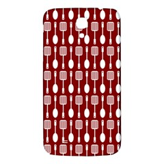 Red And White Kitchen Utensils Pattern Samsung Galaxy Mega I9200 Hardshell Back Case