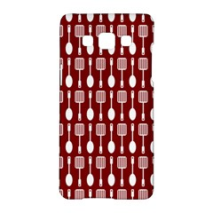 Red And White Kitchen Utensils Pattern Samsung Galaxy A5 Hardshell Case