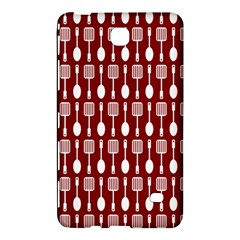 Red And White Kitchen Utensils Pattern Samsung Galaxy Tab 4 (7 ) Hardshell Case