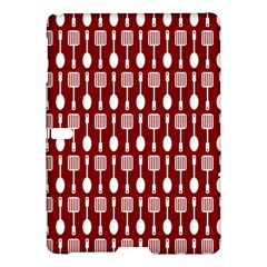 Red And White Kitchen Utensils Pattern Samsung Galaxy Tab S (10.5 ) Hardshell Case