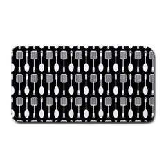 Black And White Spatula Spoon Pattern Medium Bar Mats