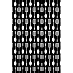 Black And White Spatula Spoon Pattern 5.5  x 8.5  Notebooks