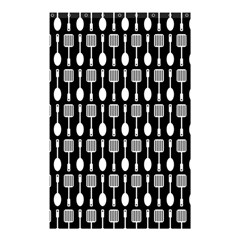 Black And White Spatula Spoon Pattern Shower Curtain 48  x 72  (Small)