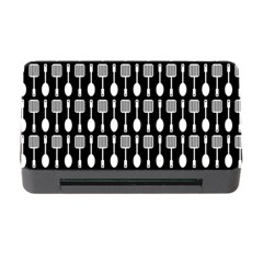 Black And White Spatula Spoon Pattern Memory Card Reader with CF