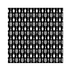 Black And White Spatula Spoon Pattern Acrylic Tangram Puzzle (6  x 6 )