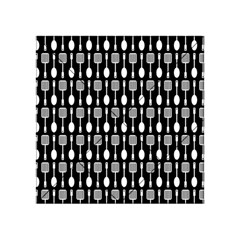 Black And White Spatula Spoon Pattern Acrylic Tangram Puzzle (4  x 4 )