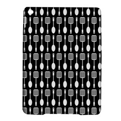 Black And White Spatula Spoon Pattern Ipad Air 2 Hardshell Cases