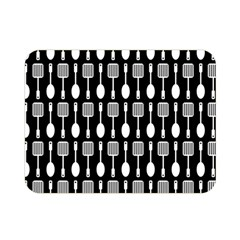 Black And White Spatula Spoon Pattern Double Sided Flano Blanket (mini)
