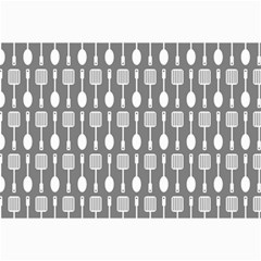 Gray And White Kitchen Utensils Pattern Collage 12  X 18