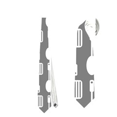 Gray And White Kitchen Utensils Pattern Neckties (one Side)