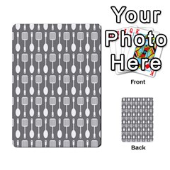 Gray And White Kitchen Utensils Pattern Multi-purpose Cards (Rectangle)