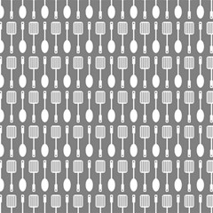 Gray And White Kitchen Utensils Pattern Magic Photo Cubes