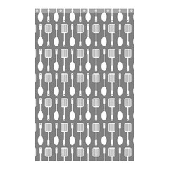 Gray And White Kitchen Utensils Pattern Shower Curtain 48  x 72  (Small)
