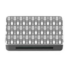 Gray And White Kitchen Utensils Pattern Memory Card Reader with CF