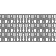 Gray And White Kitchen Utensils Pattern YOU ARE INVITED 3D Greeting Card (8x4)