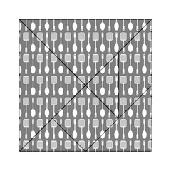 Gray And White Kitchen Utensils Pattern Acrylic Tangram Puzzle (6  x 6 )