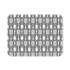Gray And White Kitchen Utensils Pattern Double Sided Flano Blanket (Mini)